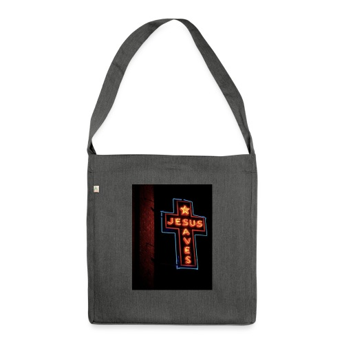 Jesus Saves - Shoulder Bag made from recycled material