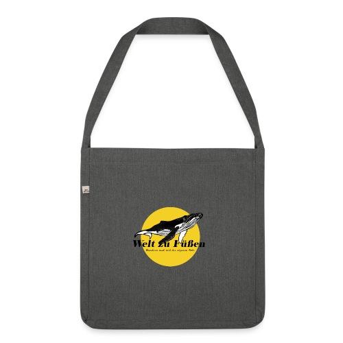 Welt zu Füßen Logo - Schultertasche aus Recycling-Material