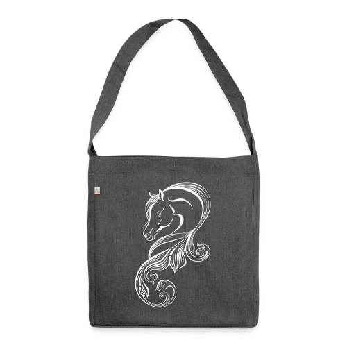 wit paard nieuw - Shoulder Bag made from recycled material