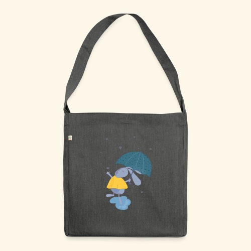 happy in the rain - Shoulder Bag made from recycled material