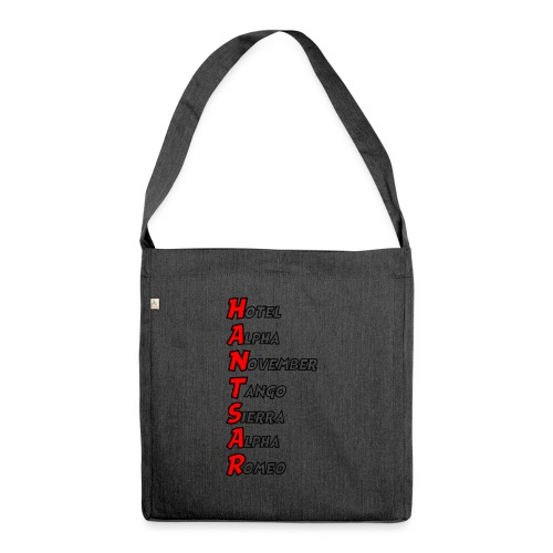 HANTSAR - Phonetic - Shoulder Bag made from recycled material