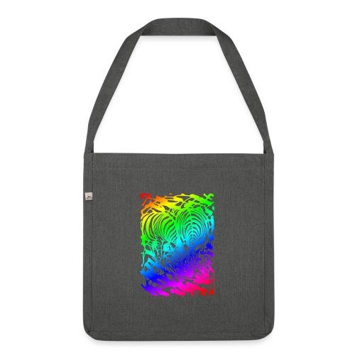 Rainbow Zebras - Olkalaukku kierrätysmateriaalista