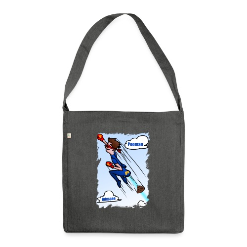 Superhero Pooman - Shoulder Bag made from recycled material