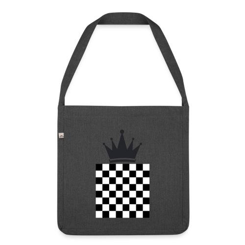 Schach König - Schultertasche aus Recycling-Material