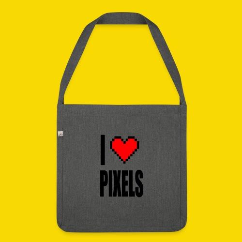 I Love Pixels - Torba na ramię z materiału recyklingowego