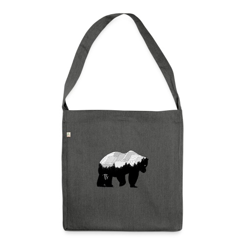 Geometric Mountain Bear - Borsa in materiale riciclato