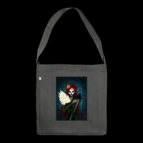 Death and lillies - Shoulder Bag made from recycled material
