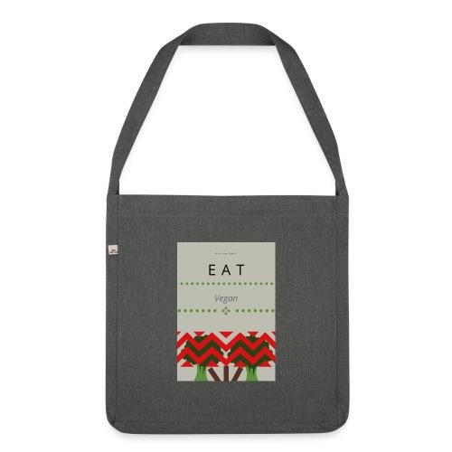 Eat Vegan - Torba na ramię z materiału recyklingowego