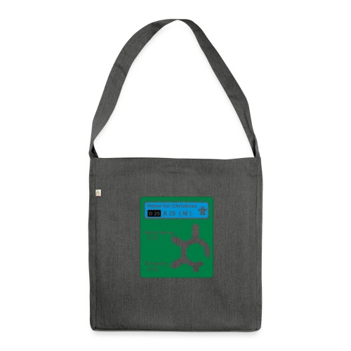 HOME_FOR_CHRISTMAS_SIGN - Shoulder Bag made from recycled material