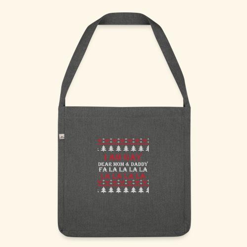 Gay Christmas sweater - Torba na ramię z materiału recyklingowego