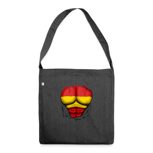 España Flag Ripped Muscles six pack chest t-shirt - Shoulder Bag made from recycled material