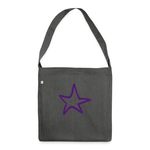 Star Outline Pixellamb - Schultertasche aus Recycling-Material
