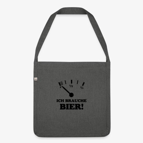 Bier Tankanzeige - Schultertasche aus Recycling-Material