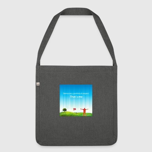 Rolling hills tshirt - Skuldertaske af recycling-material