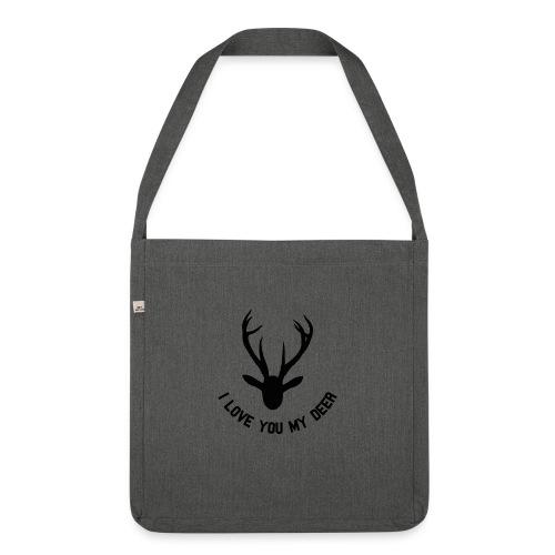 i love you my deer - Skulderveske av resirkulert materiale