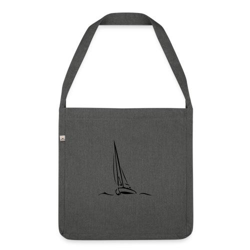 Segelboot - Schultertasche aus Recycling-Material