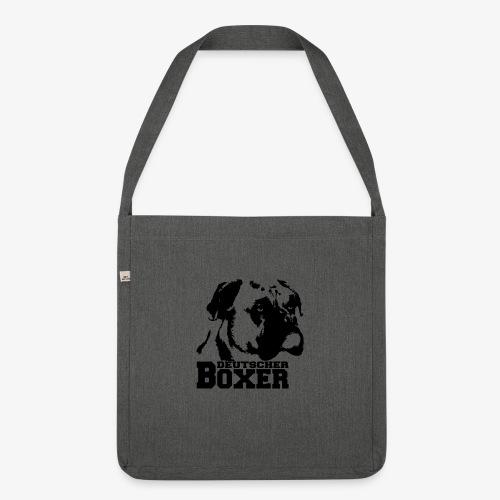 Deutscher Boxer - Schultertasche aus Recycling-Material
