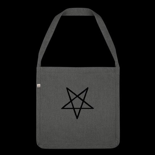 Pentagram2 png - Schultertasche aus Recycling-Material