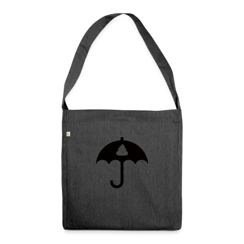 Shit icon Black png - Shoulder Bag made from recycled material