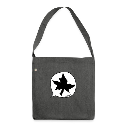 Speech Bubble Last Life - Shoulder Bag made from recycled material
