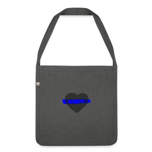 serduszko blu - Torba na ramię z materiału recyklingowego
