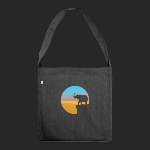 Sunset Elephant - Shoulder Bag made from recycled material