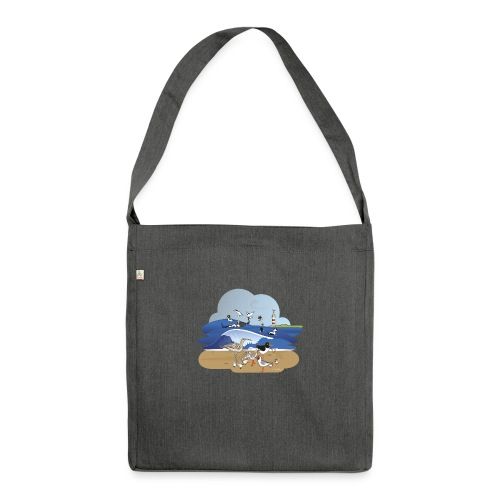 See... birds on the shore - Shoulder Bag made from recycled material