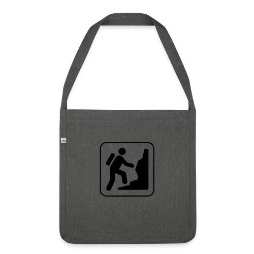 Bergwandern_logo - Schultertasche aus Recycling-Material