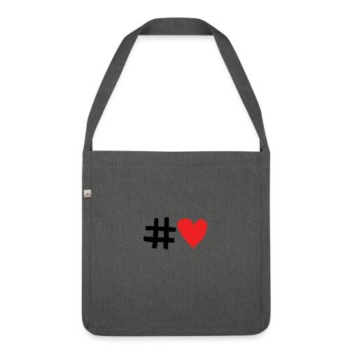 #Love - Skuldertaske af recycling-material