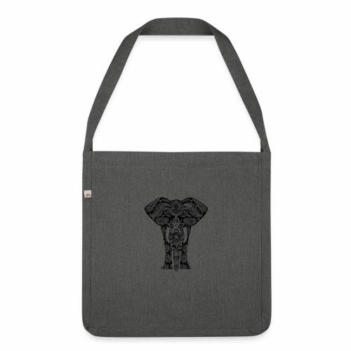 Ażurowy słoń - Torba na ramię z materiału recyklingowego