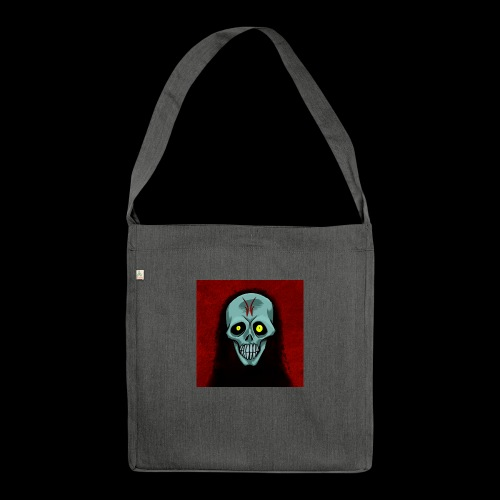Ghost skull - Shoulder Bag made from recycled material