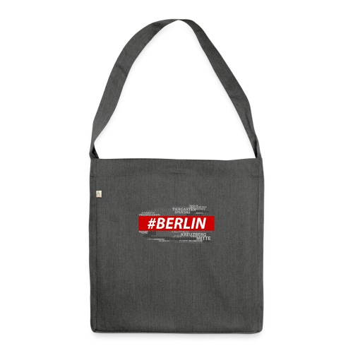 Hashtag Berlin - Schultertasche aus Recycling-Material
