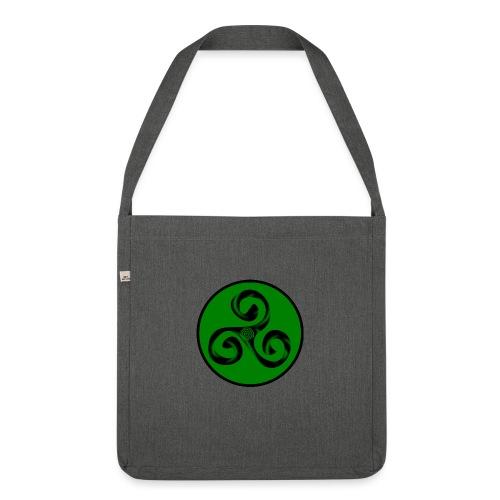 Triskel and Spiral - Bandolera de material reciclado