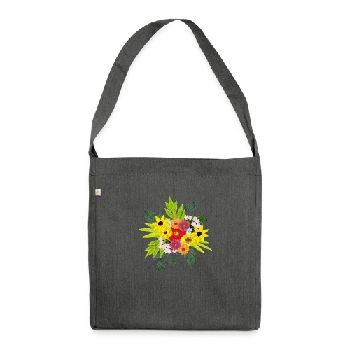 Flower_arragenment - Shoulder Bag made from recycled material