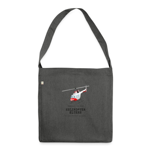 Helikoptereltern - Schultertasche aus Recycling-Material
