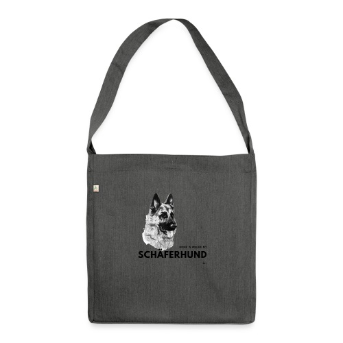 Home is where my Schäferhund is ! - Schultertasche aus Recycling-Material