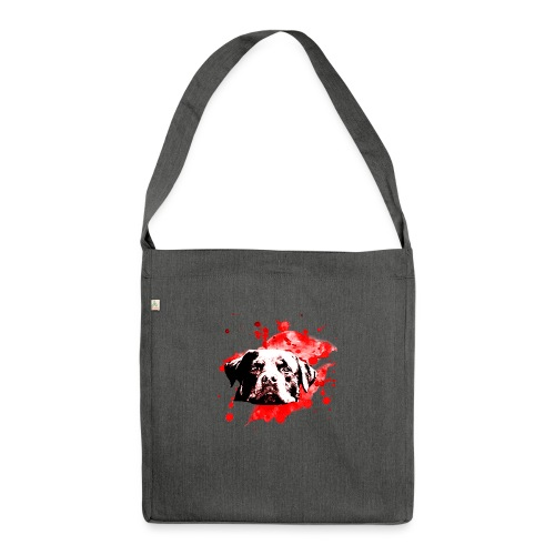Rottweiler Watercolor red - Schultertasche aus Recycling-Material