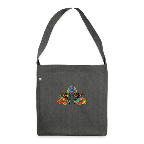 Happy Butterfly! - Schultertasche aus Recycling-Material