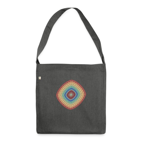 Lucky square in summery colors - Shoulder Bag made from recycled material