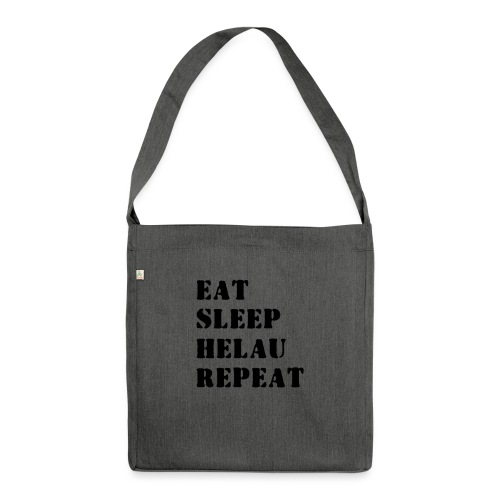 Eat Sleep Repeat - Helau VECTOR - Schultertasche aus Recycling-Material