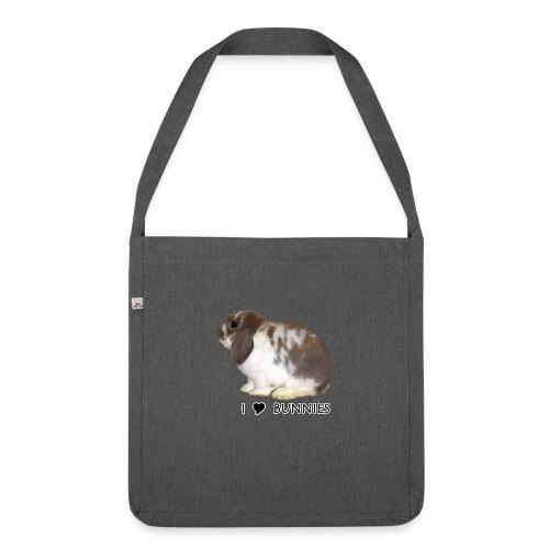I Love Bunnies Luppis - Olkalaukku kierrätysmateriaalista
