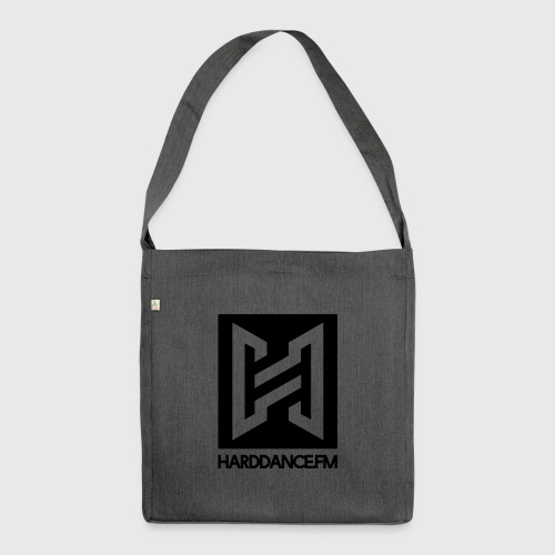 Clean Black - Schultertasche aus Recycling-Material