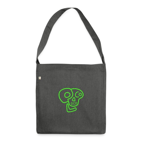 poco loco logo green - Shoulder Bag made from recycled material