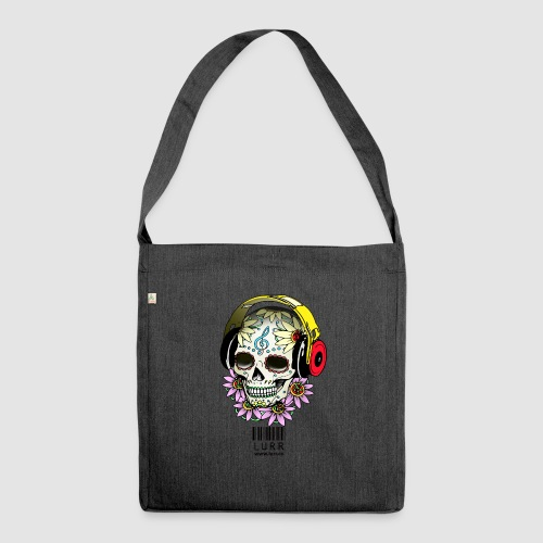 smiling_skull - Shoulder Bag made from recycled material