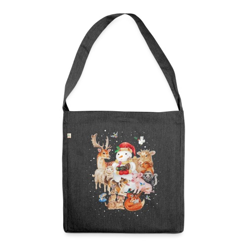 winter animals - Shoulder Bag made from recycled material