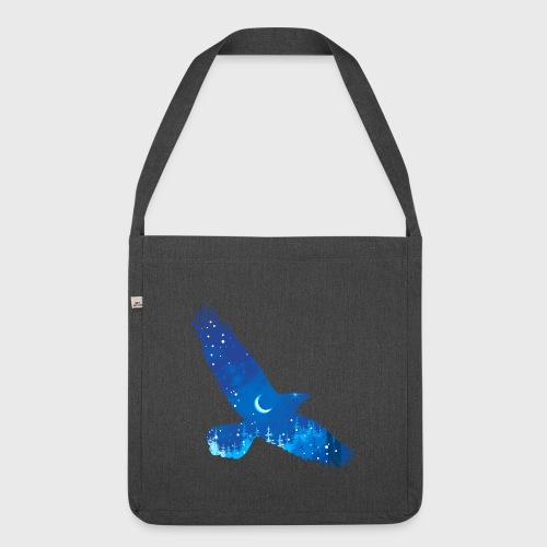 Oiseau Bleu d'hiver - Sac bandoulière 100 % recyclé