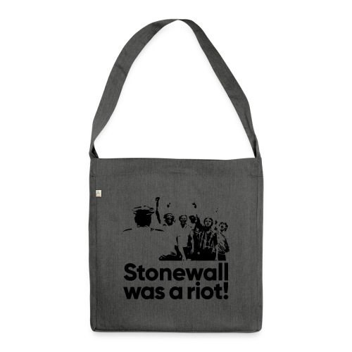 Stonewall was a riot! - Schultertasche aus Recycling-Material