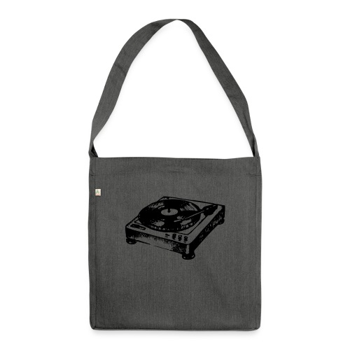DJ Symbol Musik Musiker Party Disco - Schultertasche aus Recycling-Material