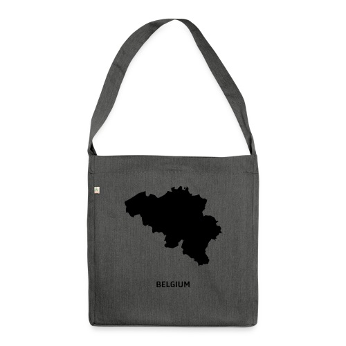 Europa Symbol Land Belgien Silhouette Staat - Schultertasche aus Recycling-Material