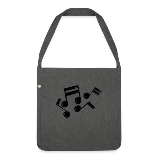 Musik Symbol Note Noten musiknoten spielen - Schultertasche aus Recycling-Material